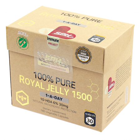 100% 퓨어 로얄젤리 1,500mg (10HDA 6% - 30mg 최고급)